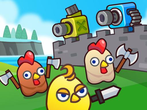 Merge Cannon Chicken Defense Game